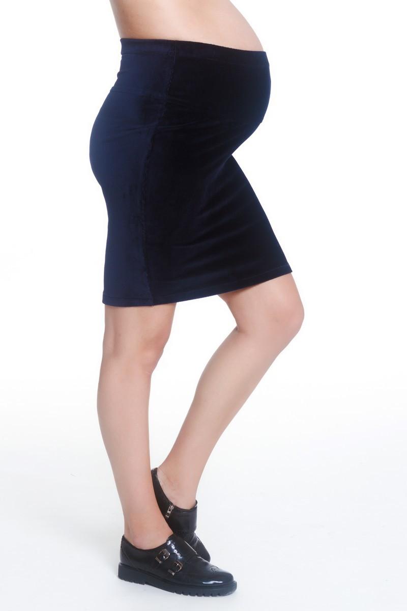 Юбка для беременных 06647 синий