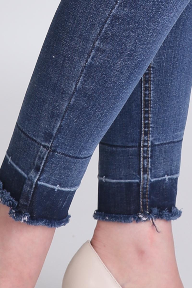 Фото джинсы для беременных MAMA`S FANTASY, средняя посадка, зауженные, высокая вставка от магазина СкороМама, синий, размеры.