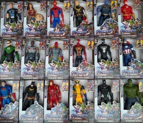 Огромный набор персонажей супергероев марвел 20 см 18 шт