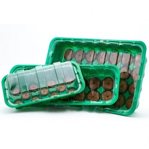 МИНИ-ТЕПЛИЦА с торфяными таблетками 33 мм/24 яч
