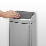 Прямоугольный мусорный бак Touch Bin (10 л, артикул 477225, производитель - Brabantia, фото 10