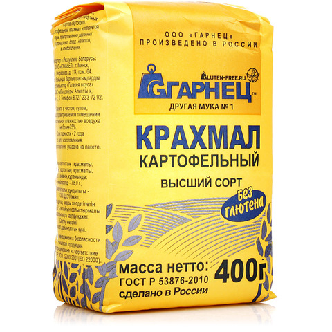 Гарнец, Картофельный крахмал без глютена, 400гр