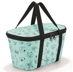 Термосумка детская Coolerbag XS cats and dogs mint Reisenthel