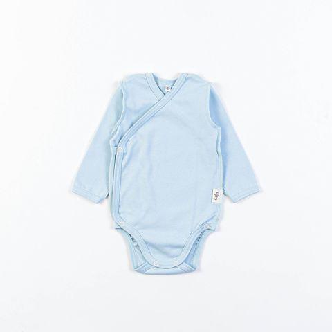 Long-sleeved kimono bodysuit 0+, Aqua