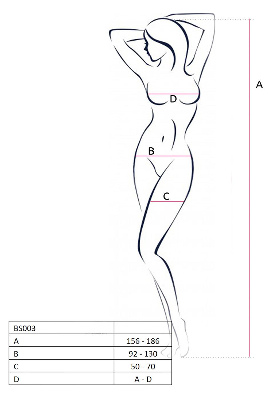 Белая сетка на теле с интимным вырезом