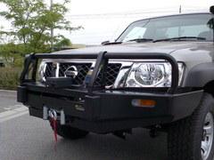 Бампер силовой Black Commercial Nissan Safari/Patrol 61 c 2005 по н.в.