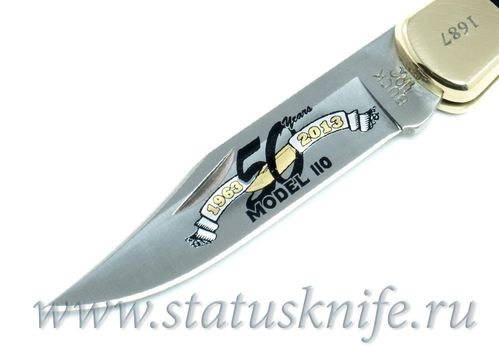 Нож BUCK 0110 Folding Hunter юбилейный 50-летие фирмы Buck - фотография