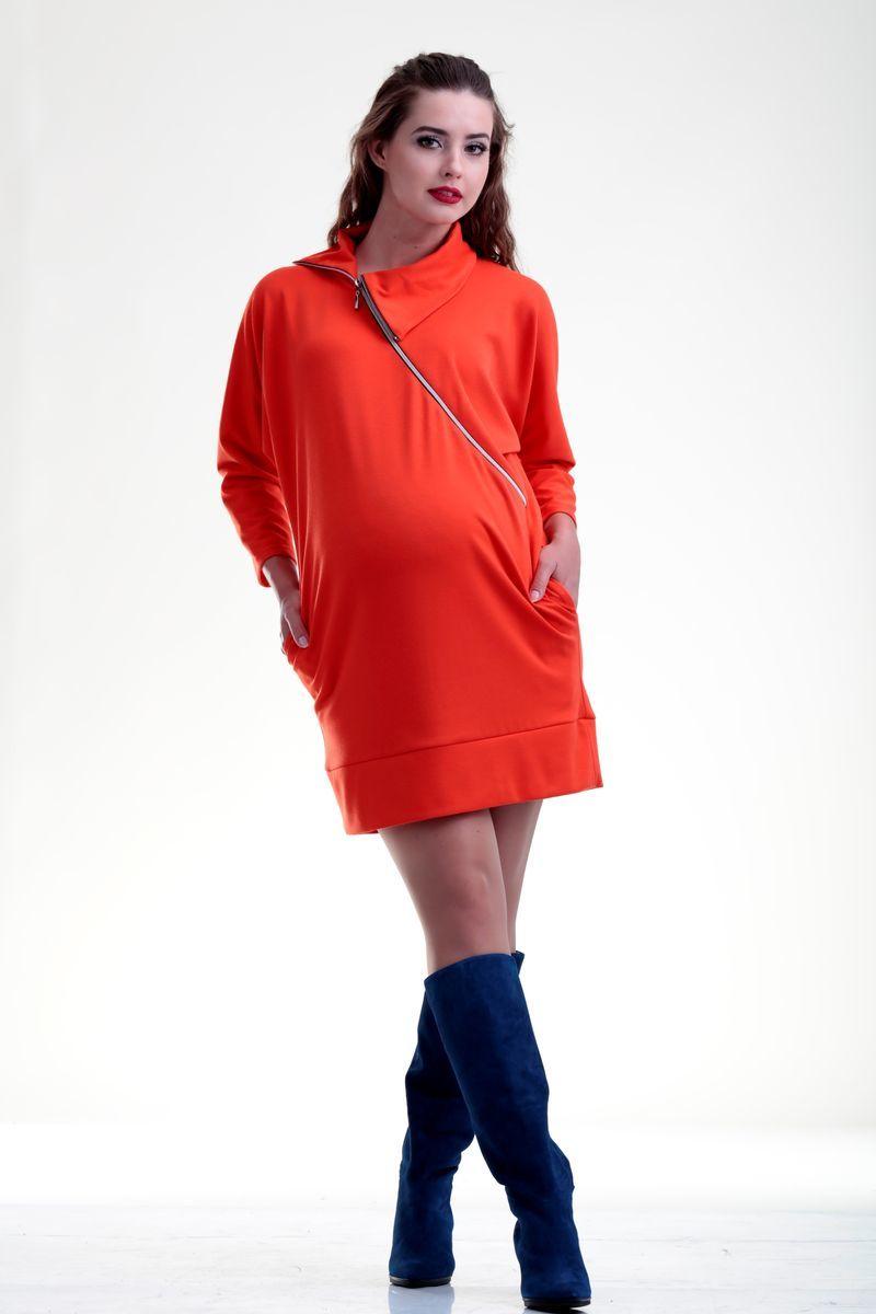 Туника для беременных и кормящих 07700 оранжевый