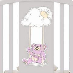 Детская кроватка с универсальным маятником Angela Bella Жаклин Мишка на качелях