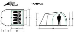 Палатка Trek Planet Tampa 5 - 2