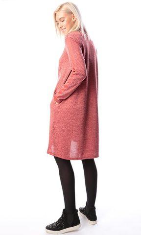 Платье коралл ЕМ 7022