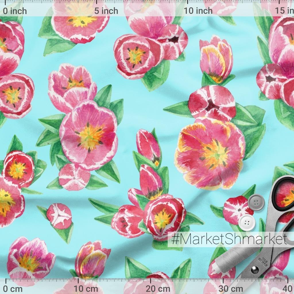 Тюльпаны на небесно-голубом