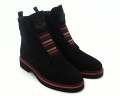 Ботинки черные на комбинированной подошве