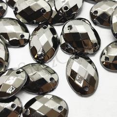 Купить стразы пришивные оптом Oval Jet Hematite в интернет-магазине