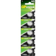 Батарейки GP CR 2025 Lithium 3V (5/100)