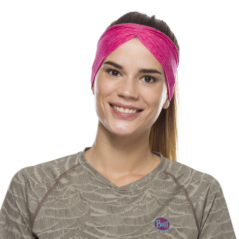 Повязка-чалма летняя Buff Headband Tapered CoolNet Flash Pink Htr фото 1
