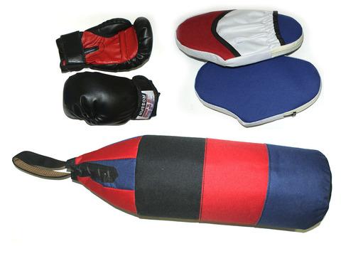 Набор боксёрский детский (груша  шлемовидная, перчатки, 2 лапы) :(5):