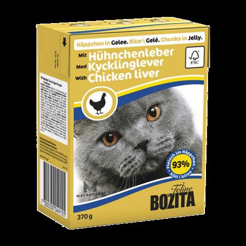 Bozita Консервы для кошек с куриной печенью (кусочки в желе)