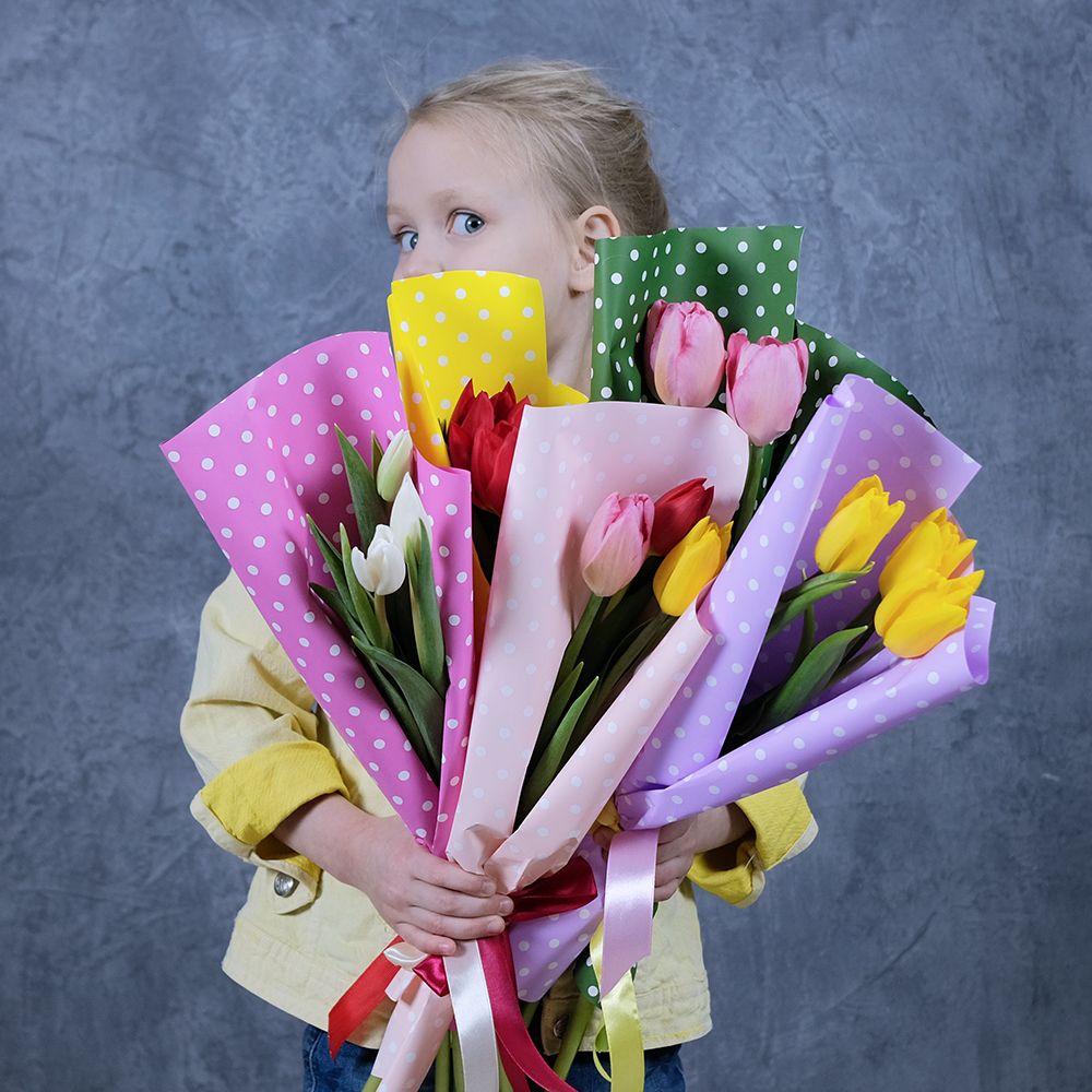 Букет-комплимент из 3 тюльпанов