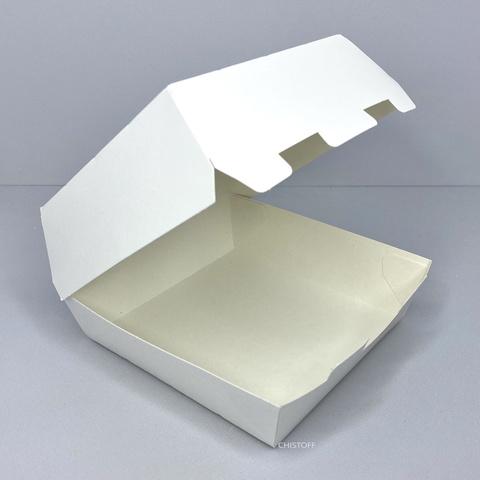 Коробка для бургера 140х140х70 мм (25 шт.) біла