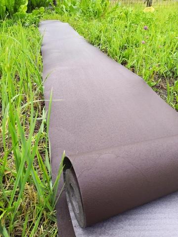 Покрытие для садовых дорожек из резино-пластика 2 мм, ширина 100 см (коричневый)