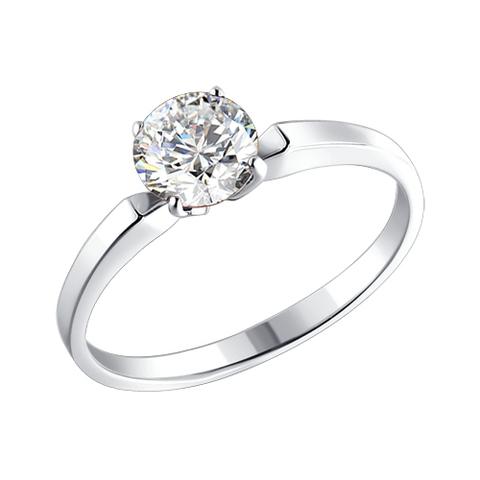 94010279 - Помолвочное кольцо из серебра с фианитом