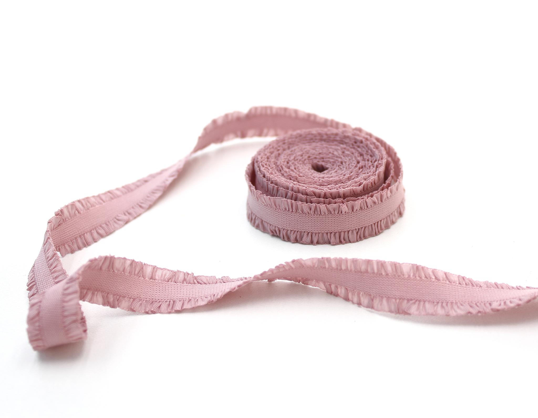 Кружевная резинка,13 мм,пыльно-розовый