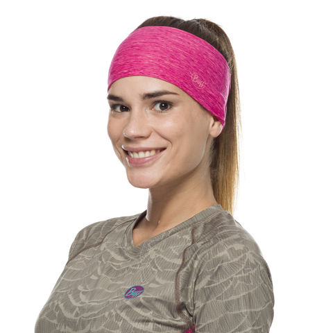 Повязка-чалма летняя Buff Headband Tapered CoolNet Flash Pink Htr фото 2
