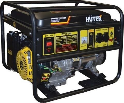 Генератор бензиновый Huter DY6500L 5000/6500Вт,220В,ручной стартер