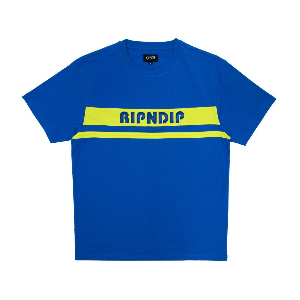 Футболка Ripndip Baja Rubber Logo Tee Royal Blue