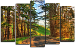 "Модульная картина ""Дорога в лесу"""