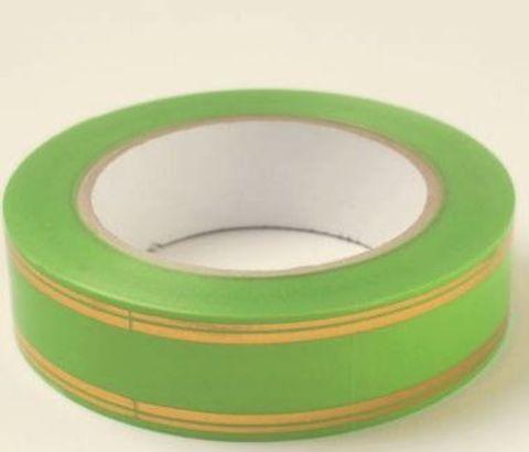 Лента золотая полоса PL (размер: 2 см х 50 ярдов) Цвет: салатовый