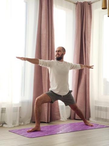 Каучуковый йога коврик Leaf Purple 185*68*4,5 см