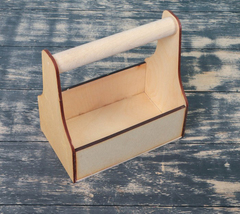 Ящик-кашпо с ручкой, 20*12,5*21 см, 1 шт.