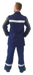 Костюм Марс ОП, синий+серый, СОП,куртка,бр.,пл.335г/м2