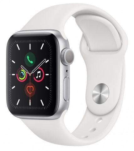 Apple Watch Series 5 Apple Watch 5 44mm Aluminium Case with Sport Band серебряный white1.jpeg