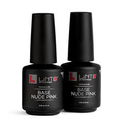 LINTO База для гель-лака камуфлирующая NUDE PINK 15 ml