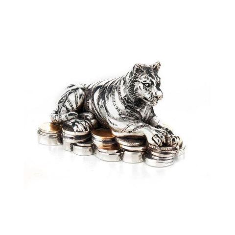 Серебряный тигр на монетах - Символ 2022 года
