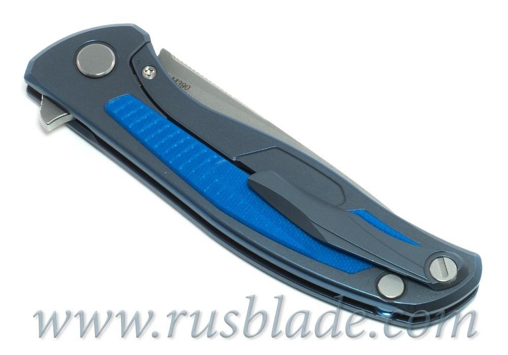 Shirogorov Flipper 95 M390 G10 Blue inlay - фотография