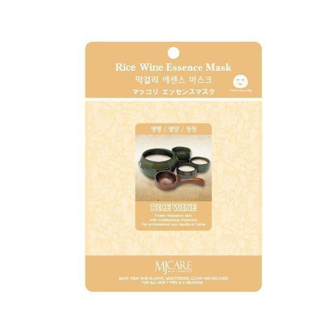 Тканевая маска для лица рисовое вино MIJIN Care Mask