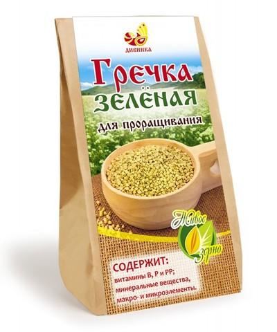 Зерно для проращ Гречка зеленая 500г Дивинка