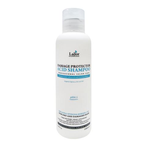 Бесщелочной шампунь с коллагеном и аргановым маслом Damaged Protector Acid Shampoo Lador