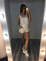 Комбинезон с шортами белый купить