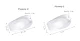 Упругие амортизирующие подпяточники «+ 2 см» из полупрозрачного силикона