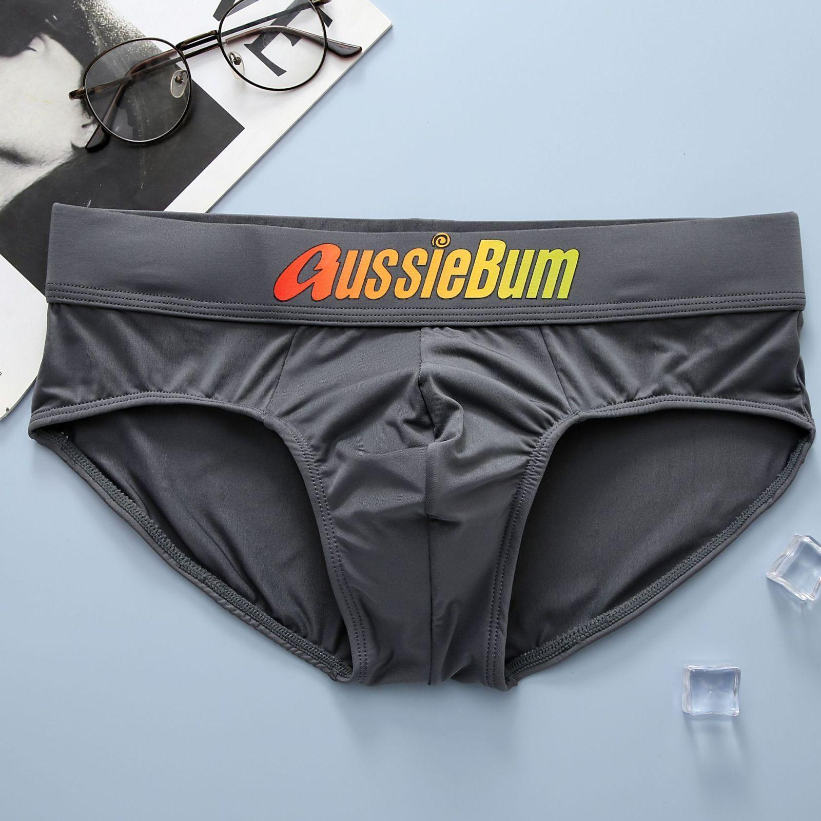 Трусы мужские плавки брифы серые AussieBum