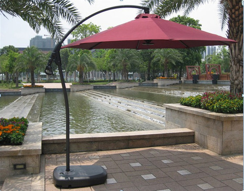 Зонт уличный на боковой стойке Garden Way A005 Red