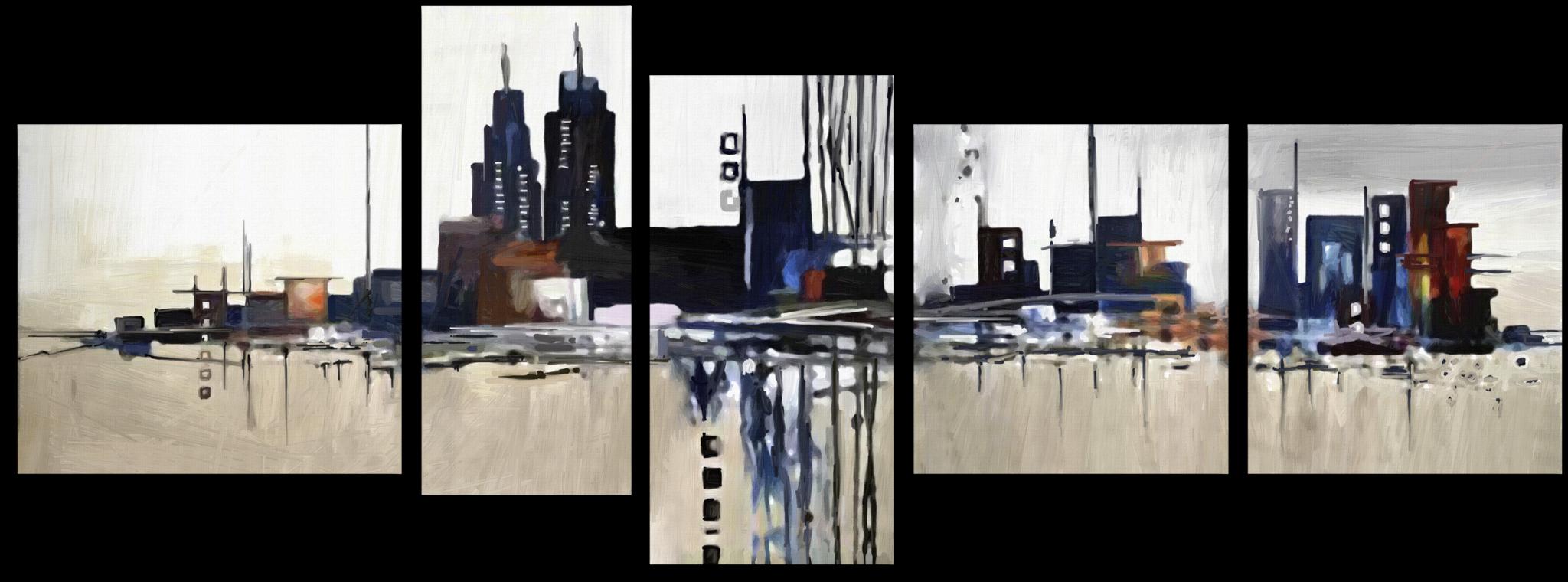 """Города Модульная картина""""Городская абстракция"""" М304.png"""