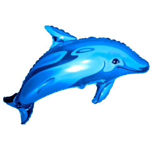 Фольгированный воздушный шар с гелием Дельфин