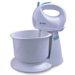 Миксер с чашей DELTA DL-5067С белый с голубым