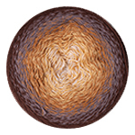 YarnArt Flowers 284 коричневый меланж